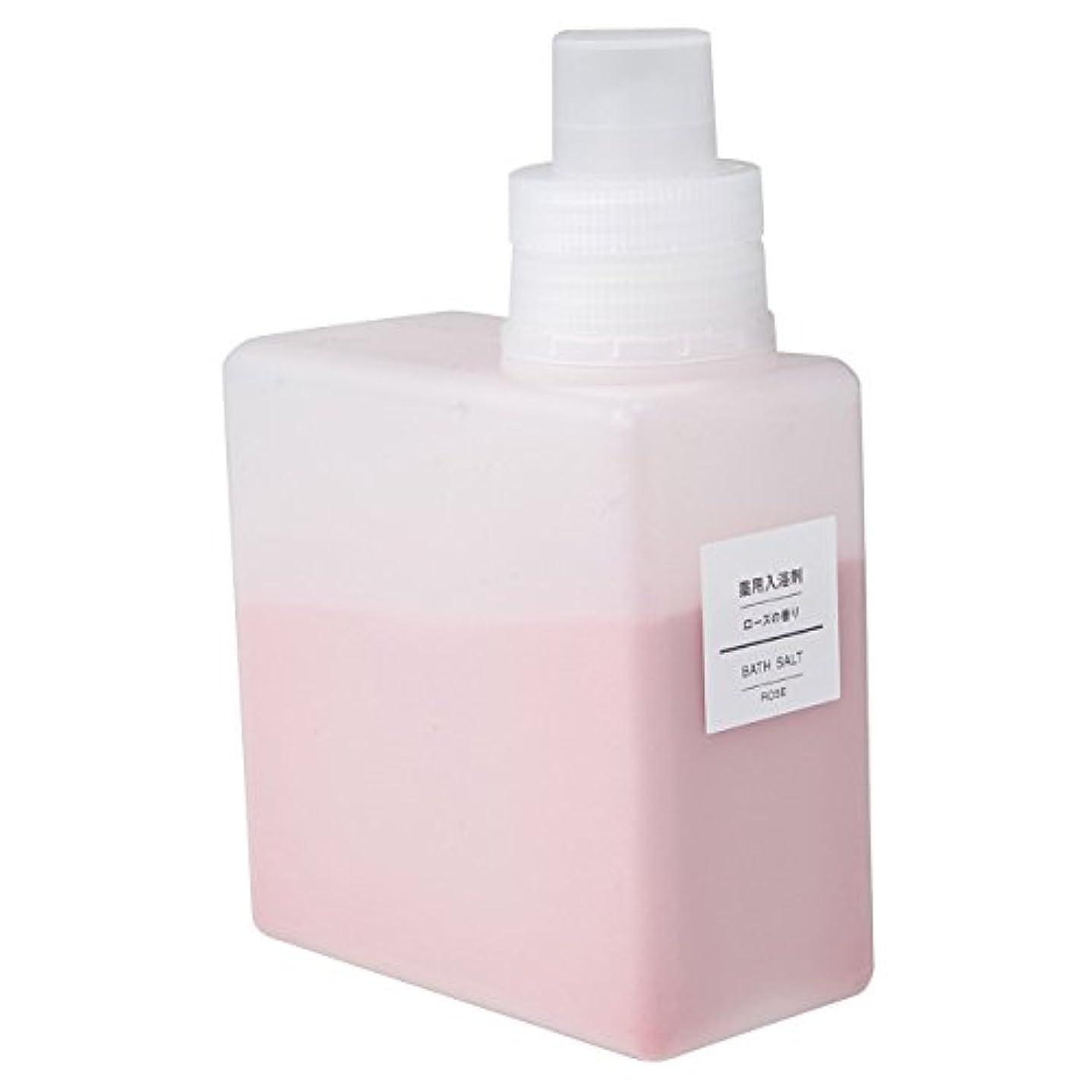 バースルーキー記念碑的な無印良品 薬用入浴剤?ローズの香り (新)500g 日本製