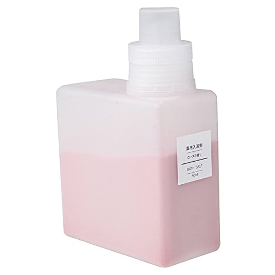 赤外線幅名門無印良品 薬用入浴剤?ローズの香り (新)500g 日本製