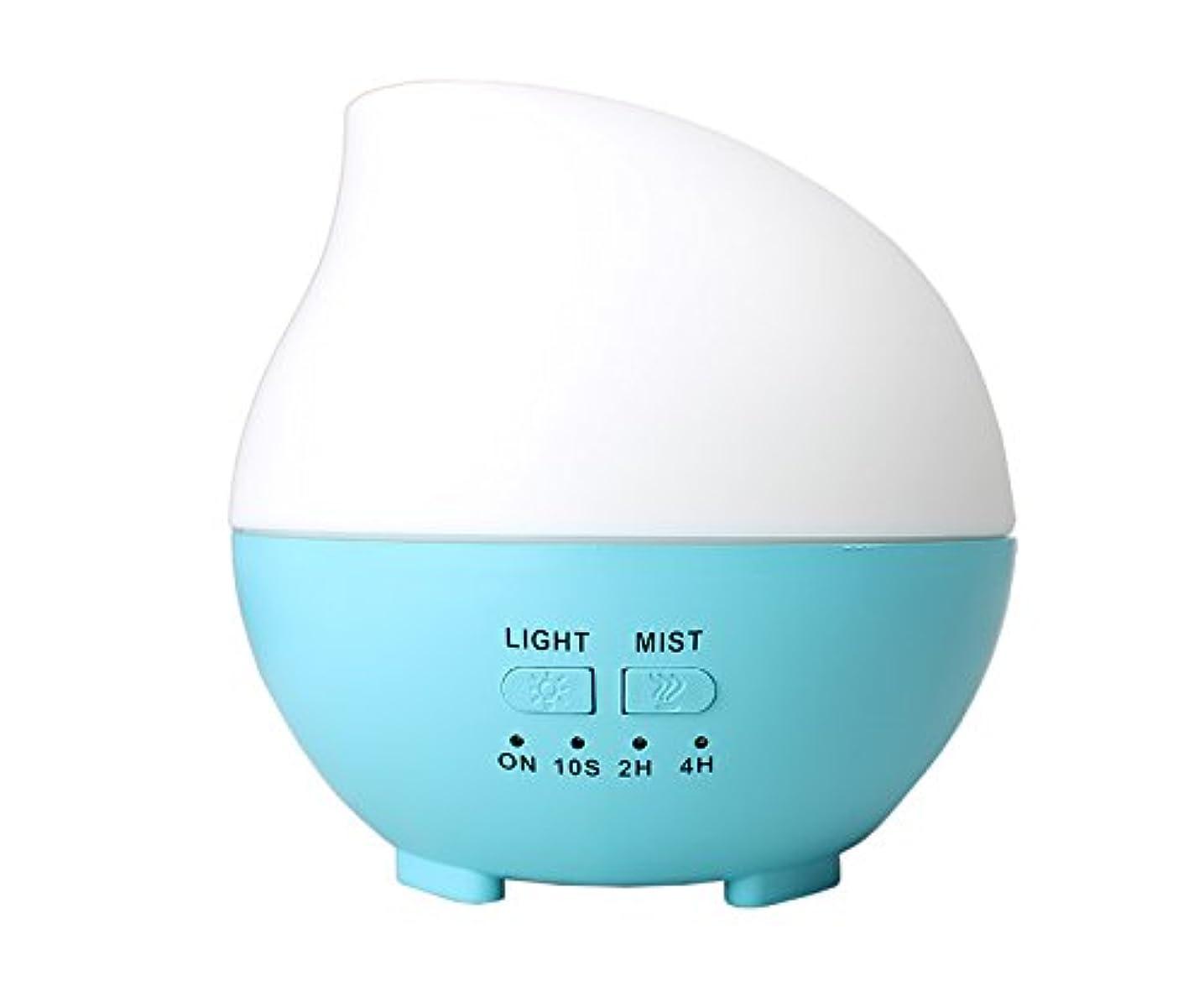 パッド誠意寄付するLIBESON 加湿器 卓上 超音波 静音大容量 アロマディフューザー コンセント差し込み式 ムードランプ シンプル ホイップ型 ブルー