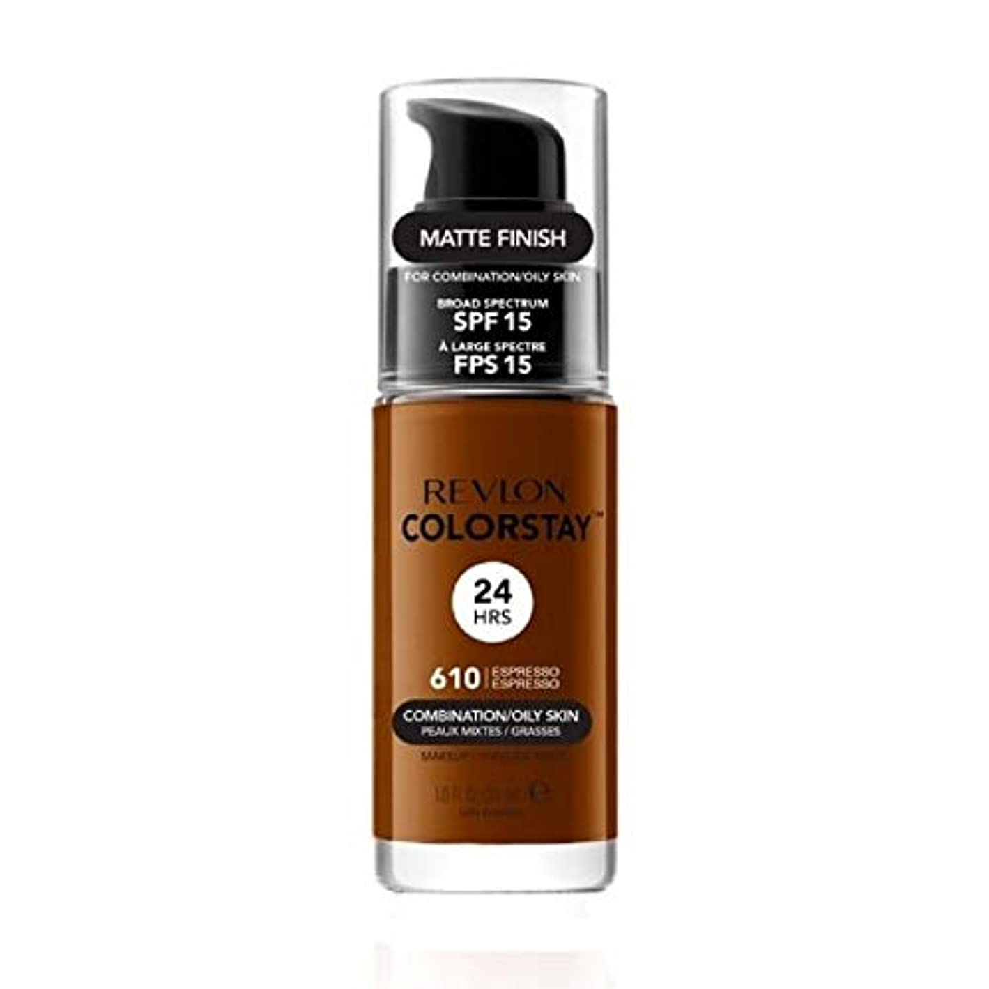軽減するレギュラーキャンドル[Revlon ] レブロンColorstayの基盤コンビオイリー肌の30ミリリットルのエスプレッソ - Revlon Colorstay Foundation Combi Oily skin 30ml Espresso...