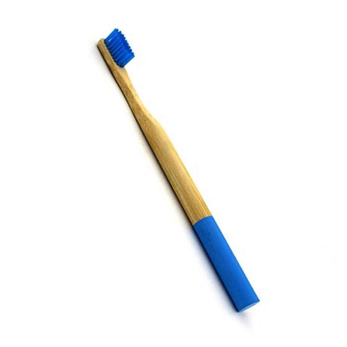 企業テレビ局罰ROSENICE 竹歯ブラシラウンドハンドル自然な竹成人環境にやさしいソフトブリストル旅行歯ブラシ