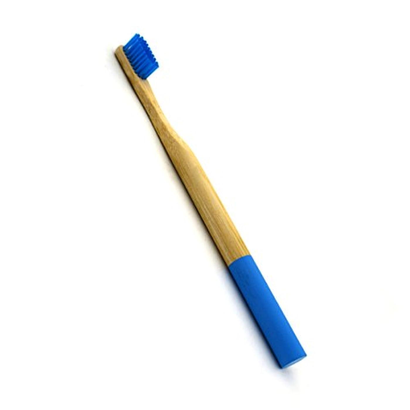 告白する適度な識字ROSENICE 竹歯ブラシラウンドハンドル自然な竹成人環境にやさしいソフトブリストル旅行歯ブラシ