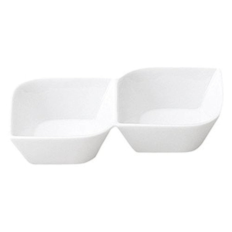 コリーン 2連菜鉢 [ L 16.3 x S 10.7 x H 3.6cm ] 【 仕切皿 】 【 飲食店 レストラン ホテル カフェ 洋食器 業務用 】