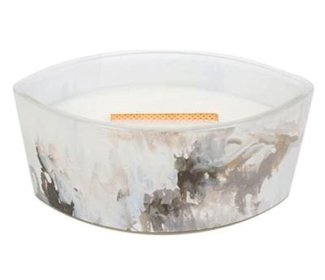 プラットフォームピクニックお茶Honey Tabac – アーティザンコレクション楕円WoodWick香りつきJar Candle