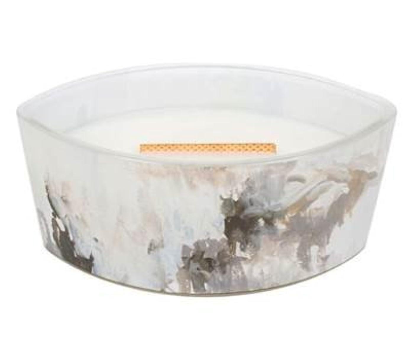 陰気プロテスタントビームHoney Tabac – アーティザンコレクション楕円WoodWick香りつきJar Candle