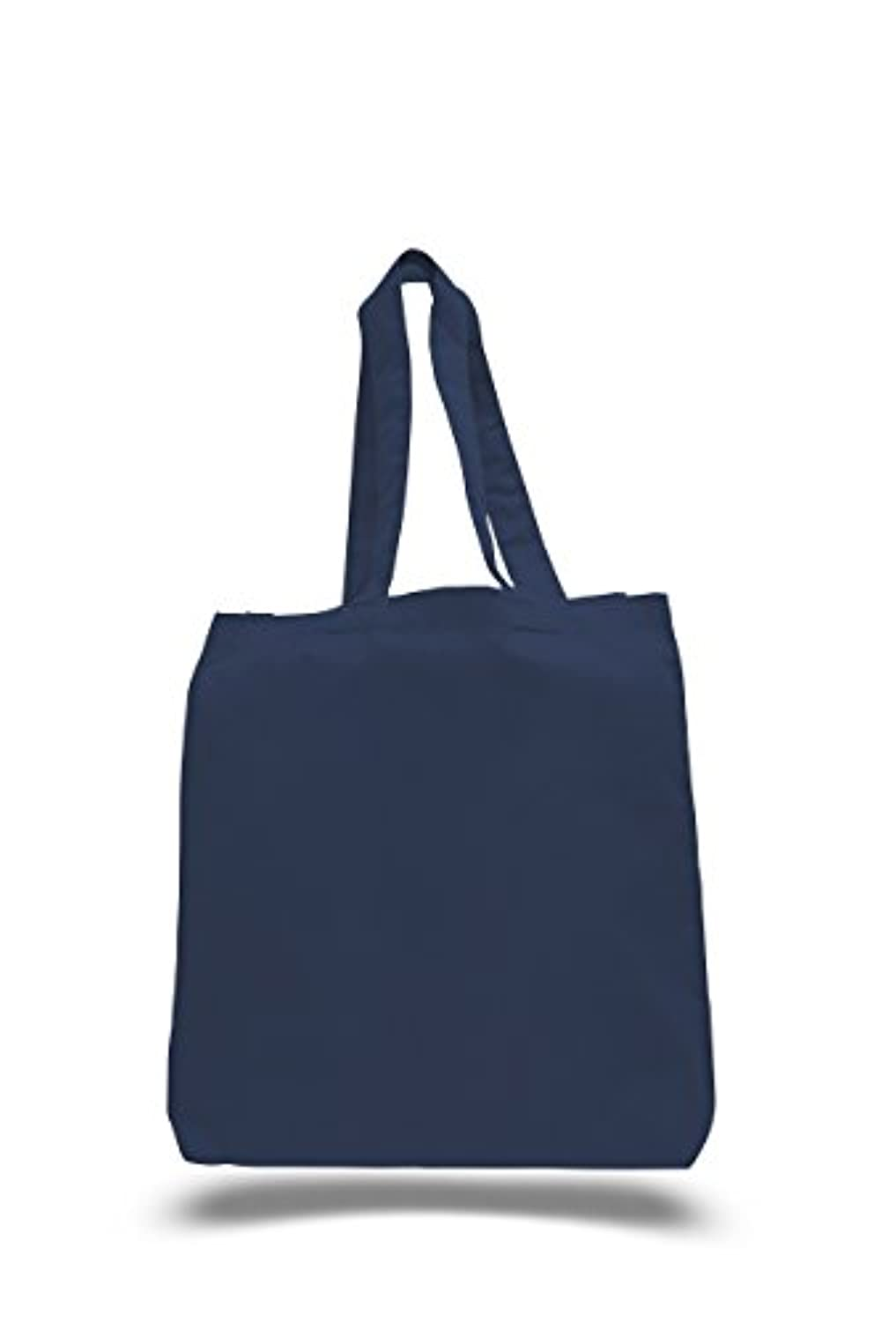 bagzdepot 12パック100 %コットンキャンバスReusable Grocery Tote Bags with Bottom Gusset – 卸売Eco Friendly空白コットンバッグin Bulk 15...