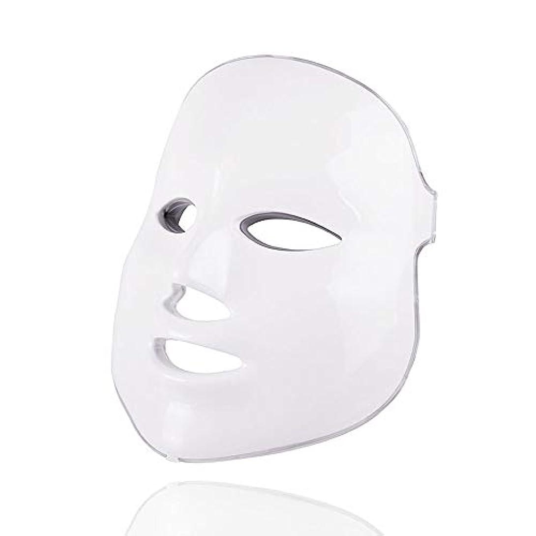 テレマコスタイピスト気味の悪い7色美容療法光子、ledフェイシャルマスクライトスキンケア若返りしわにきび除去顔美容スパ楽器