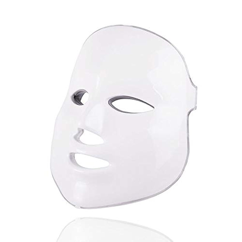 指時系列メッシュ7色美容療法光子、ledフェイシャルマスクライトスキンケア若返りしわにきび除去顔美容スパ楽器