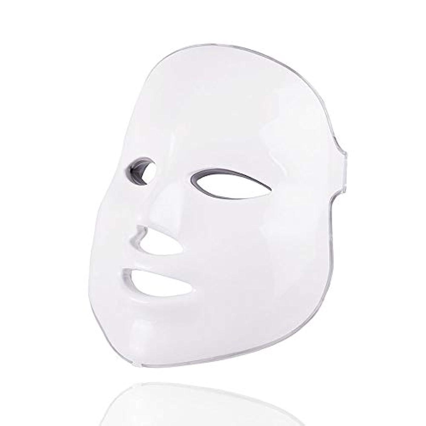リルお金ゴム外側7色美容療法光子、ledフェイシャルマスクライトスキンケア若返りしわにきび除去顔美容スパ楽器