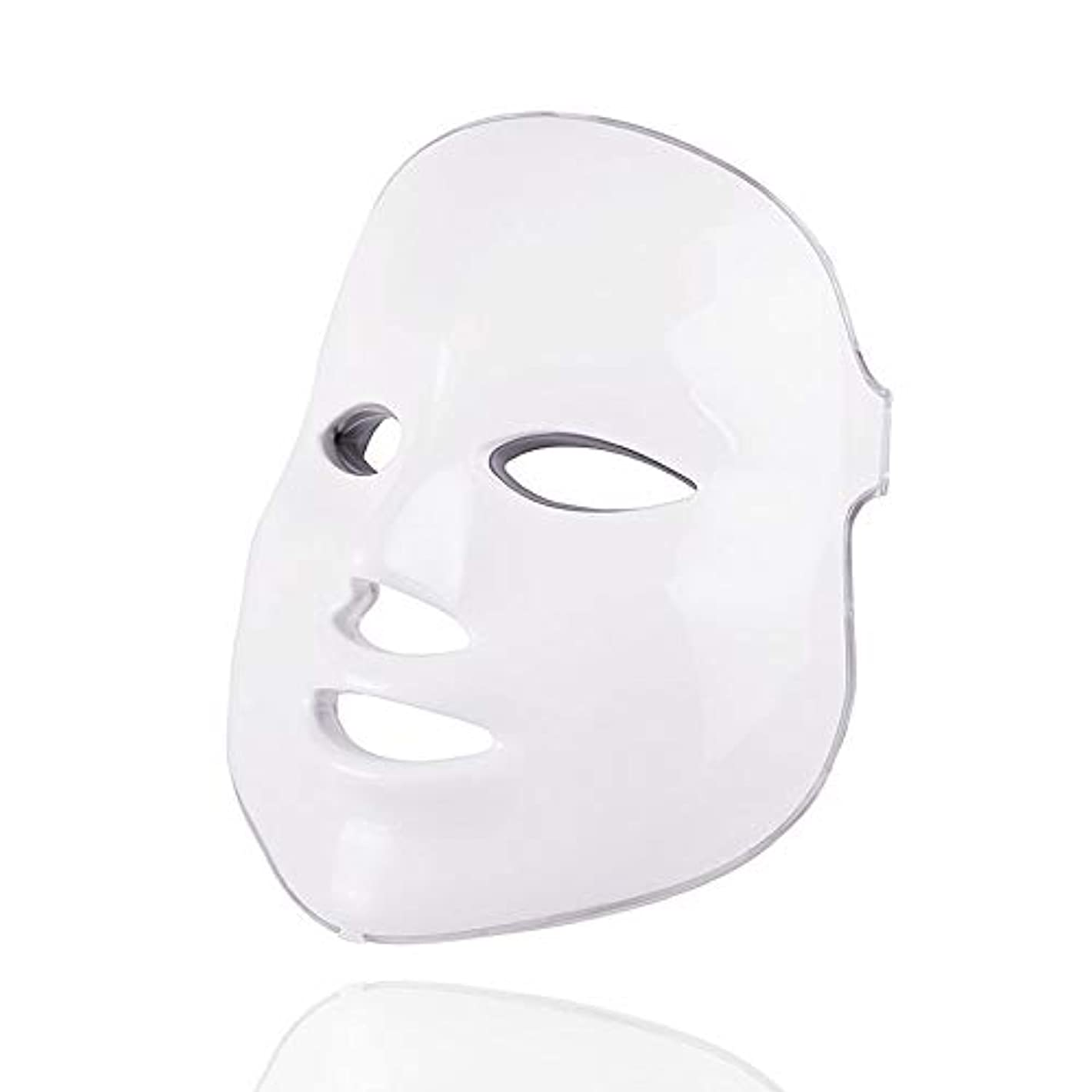 回転させる世論調査合意7色美容療法光子、ledフェイシャルマスクライトスキンケア若返りしわにきび除去顔美容スパ楽器