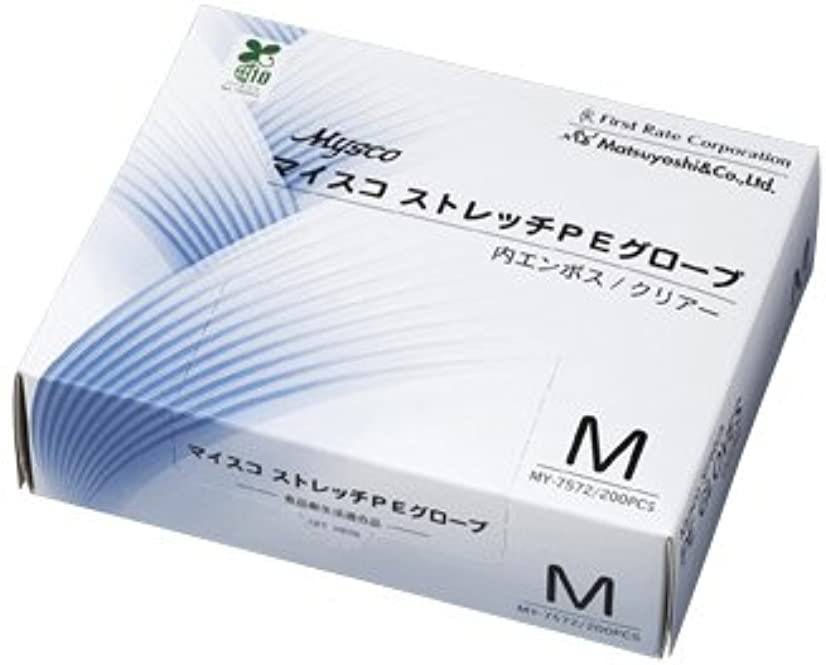 料理服を洗う最後のマイスコストレッチPEグローブ MY-7572(M)200???? ?????????PE??????(24-5750-01)[1箱単位]