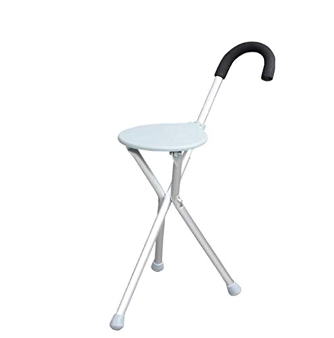 和解するジャズ現像老人のスティックスツール高齢者三脚杖椅子杖スツール折りたたみ杖ウォーカー付きシート屋外ステッキ
