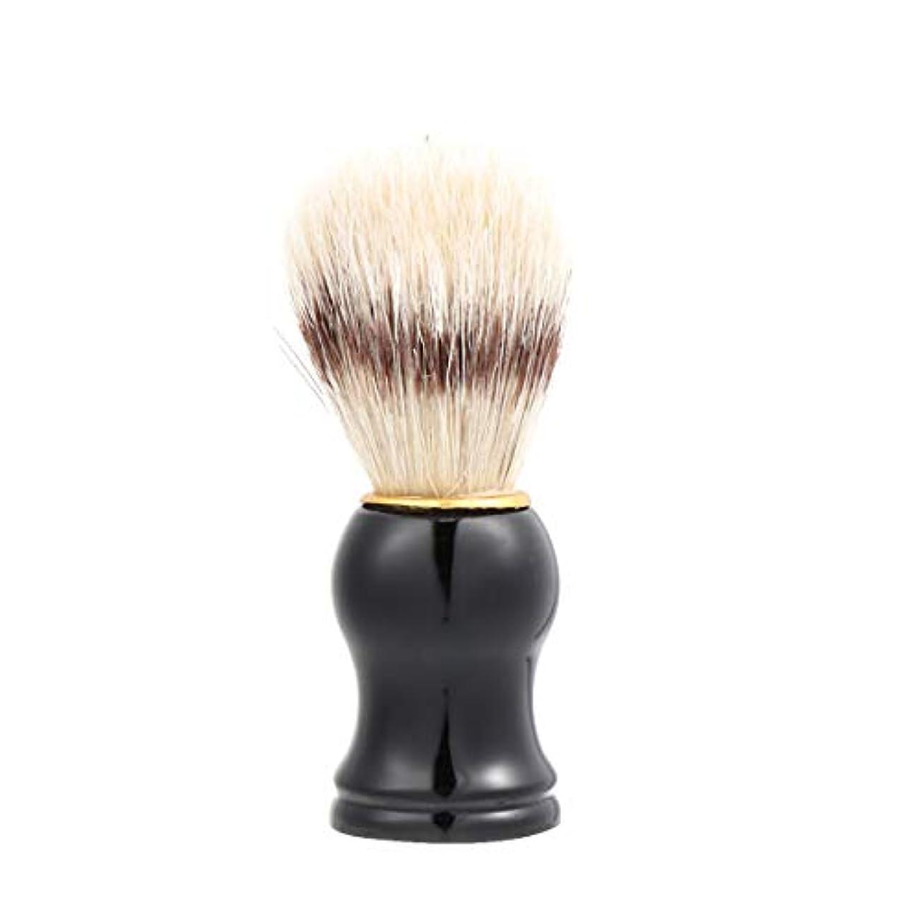 Lurrose 男性の剃毛ブラシ 毛髭ひげ 剃毛ブラシ ソフト フェイシャルケア ヘアクレンジングブラシ