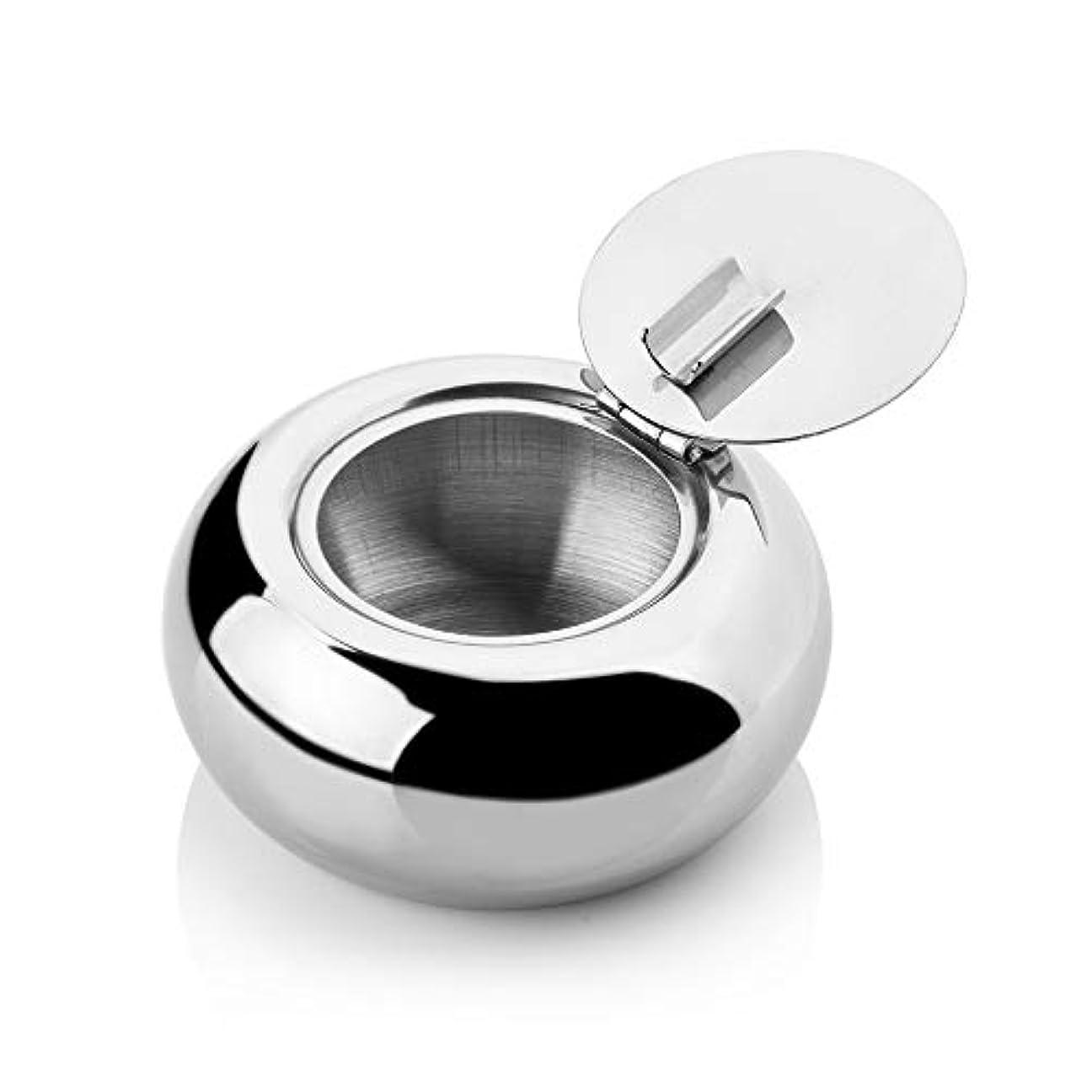 テンポサイズ絶滅させるステンレス鋼の覆われた灰皿、屋内/屋外の普遍的な灰皿、きれいにすること容易防風の灰皿 (色 : L)