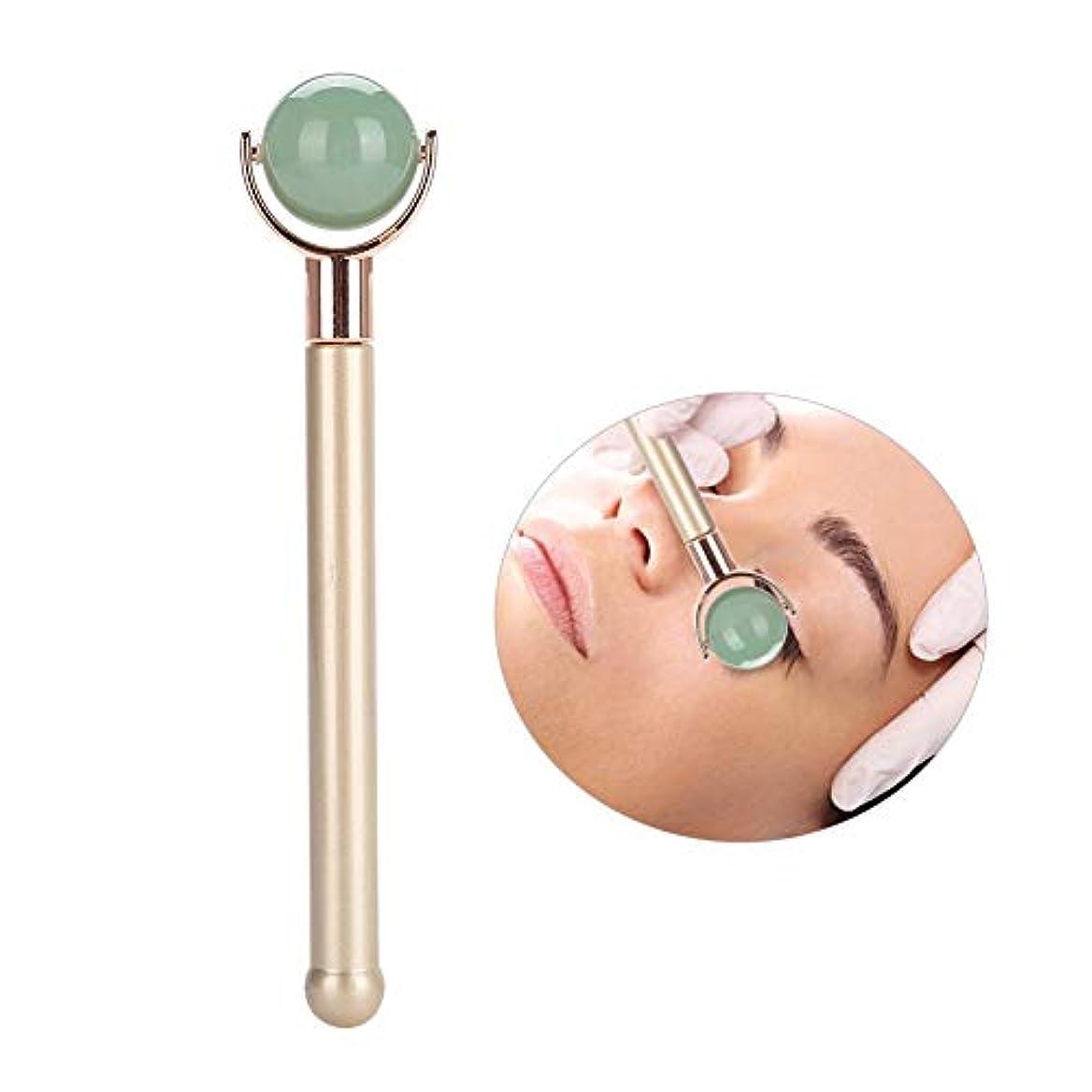 申し立てられたインフラ毒ナチュラルジェイドローラーマッサージ、マッサージローラー痩身ヒーリングより良い&美容アンチリンクル女性フェイシャル薄い美容ツール(#2)