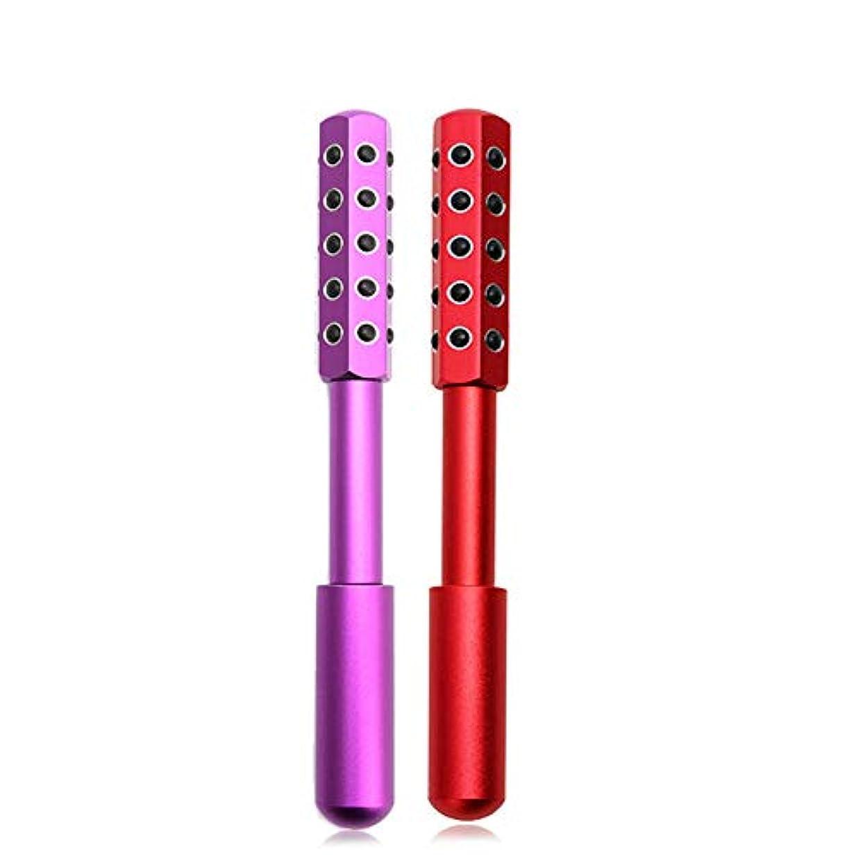 理想的にはドレイン外向きZYL ベターライフ ビューティーローラー ゲルマニウム フェイスケア コロコロ美顔美容ローラー (ピンク)