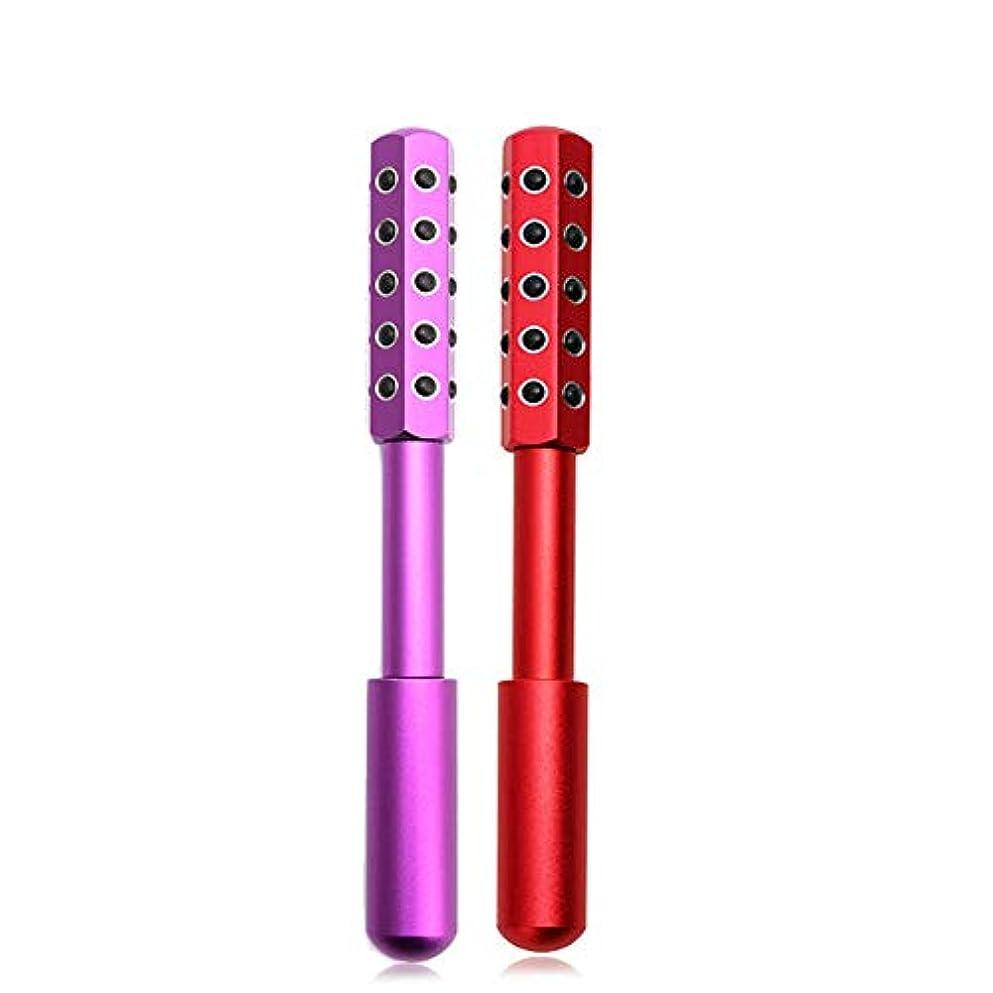微弱物理的にレンディションZYL ベターライフ ビューティーローラー ゲルマニウム フェイスケア コロコロ美顔美容ローラー (ピンク)