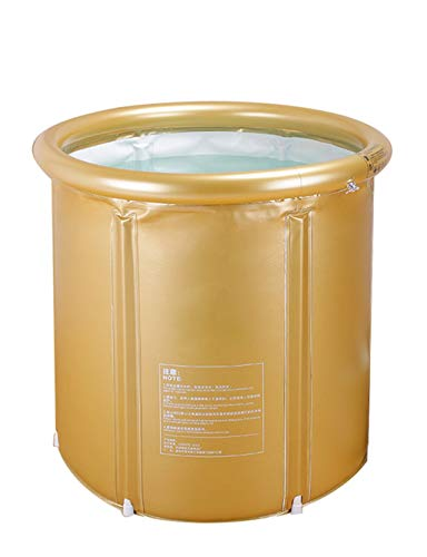 Meters 空気入れバスタブプールPVC持ち運びやすいバスタブプール 折りたたみ可能 自宅用 家族用バスタブプール 室内外2wayお風呂シャワープール (色 : ゴールド)