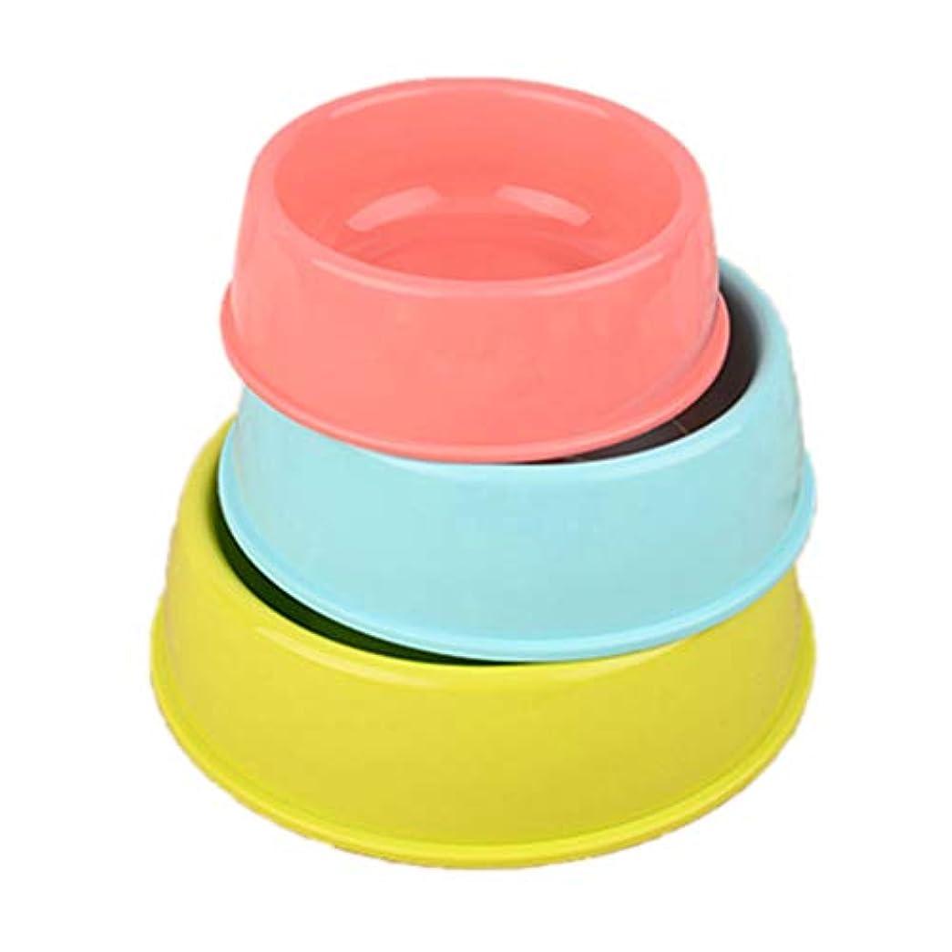 リップ限り慣れるBalacoo ペットボウル 犬用食器 猫用食器 餌皿 餌いれ フードボウル ペット食器 3個セット(ランダムカラー)