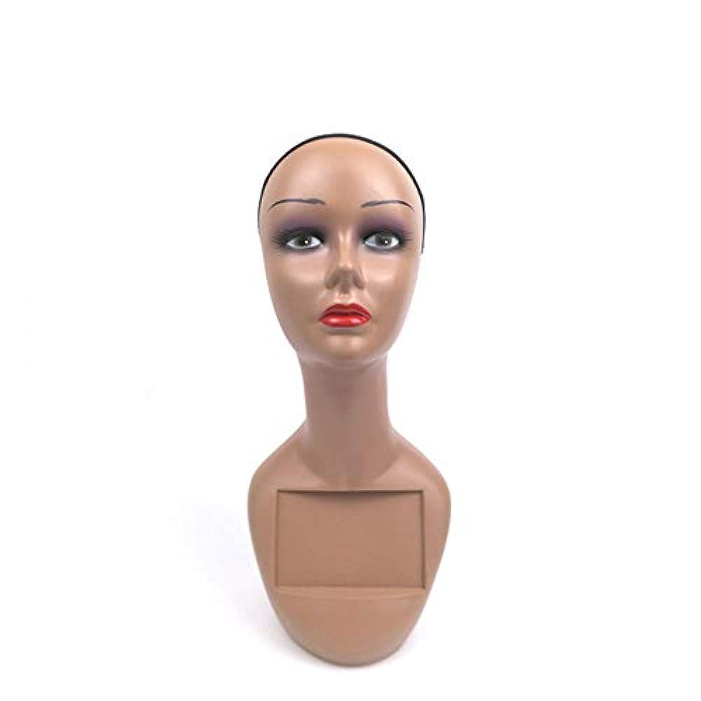 あごひげ愛国的な左ウィッグヘッド型小道具ABSヘッドモデル化粧モデルヘッドウィッグモデルヘッド女性ウィンドウディスプレイヘッド