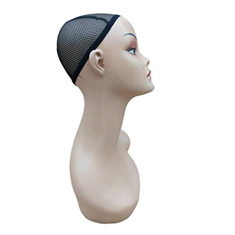 不機嫌そうな操縦する含意Perfeclan ウィッグスタンド ハンガー マネキンヘッド かつら 帽子 ネックレス スカーフ ディスプレイ