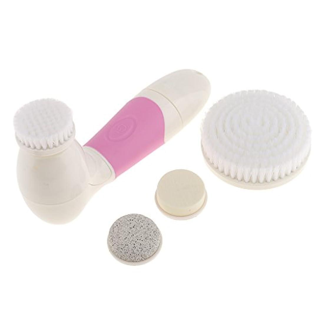 ローブラジカル驚Baosity 四合一多機能 防水 毛穴吸引器美顔器 毛穴ケア にきび/黒ずみ/粗い毛穴を改善 マッサージ器3色 - ピンク