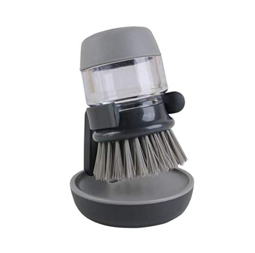 キッチンブラシ 洗濯ブラシ シンクブラシ 食器洗い 鍋などの物を洗う用具 洗剤 (グレー)
