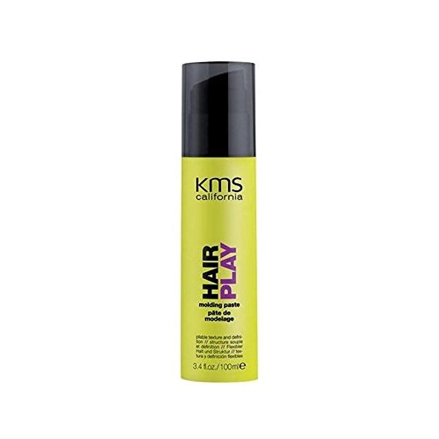 ステレオセンター直面するカリフォルニア成形ペースト(100ミリリットル) x4 - Kms California Hairplay Molding Paste (100ml) (Pack of 4) [並行輸入品]