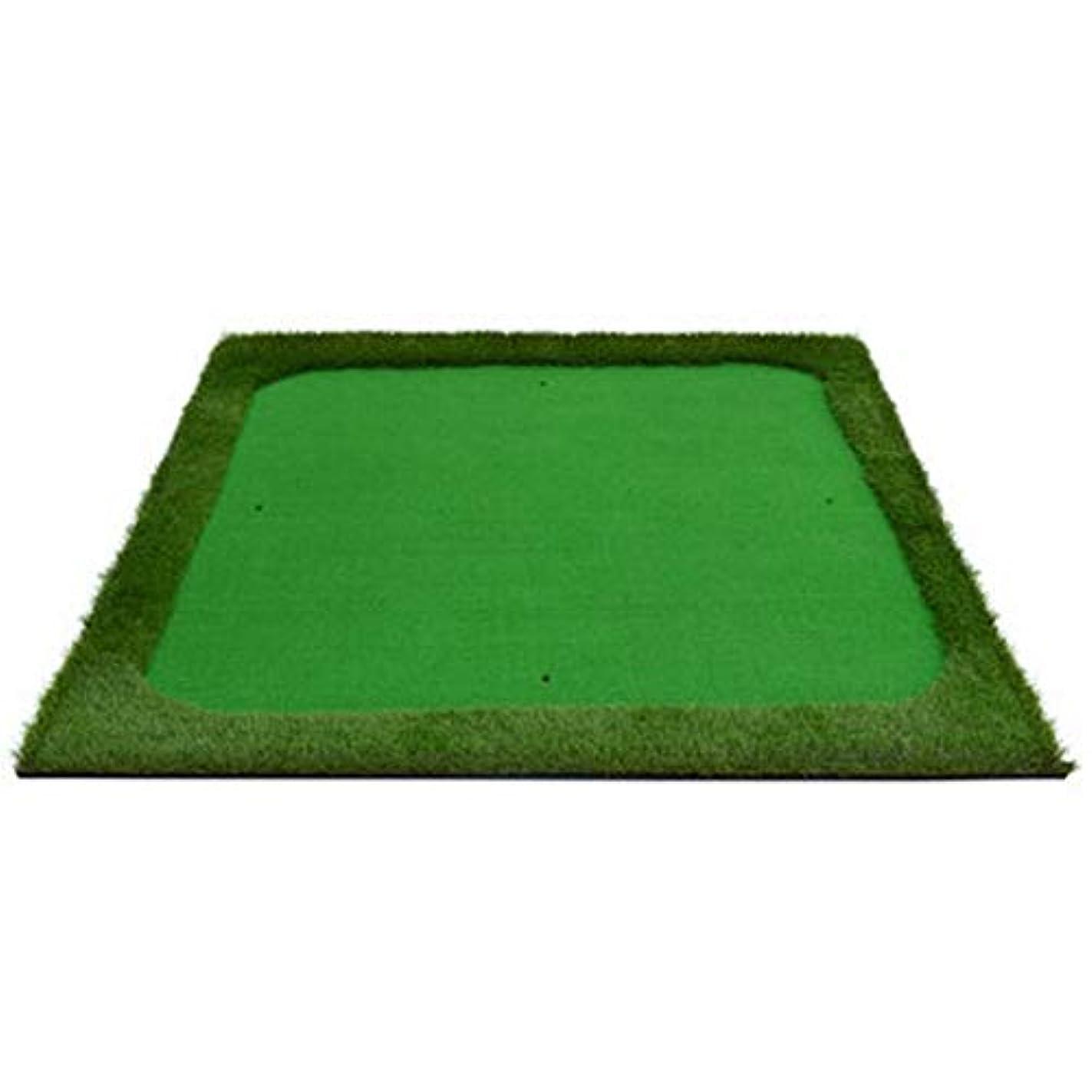 会議脱獄WJ ゴルフマット- ゴルフブローパッドスイングマット2色の草マットスクエア4辺の長い草 /-/