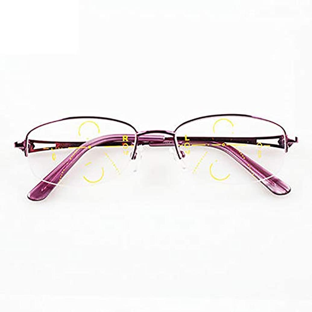 申し立てられたジャグリング戻す老眼鏡、インテリジェントプログレッシブマルチフォーカス、放射線防護、遠近感、エレガントパープル