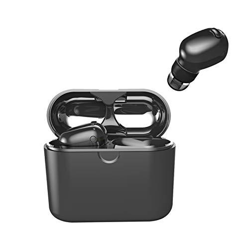 Bluetoothイヤホン スポーツ 防水 ワイヤレス イヤホン Bluetooth 音楽 ヘッドホン Bluetoothヘッドセット ブルートゥースイヤホン ワイヤレスヘッドセット HIFI 高音質 最新版 ステレオインイヤー TWSイヤー ピースイヤホン 4.2 iOS、Android、すべてのBluetoothデバイス対応 充電ケース付き ミニBluetoothヘッドセット(I8Xブラック)