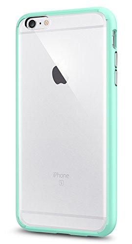 Spigen iPhone6s Plus ケース / iPhone6 Plus ケース, [ 背面 クリア ] ウルトラ・ハイブリッド アイフォン6s プラス / 6 プラス 用 米軍MIL規格取得 耐衝撃カバー (ミント SGP11647)