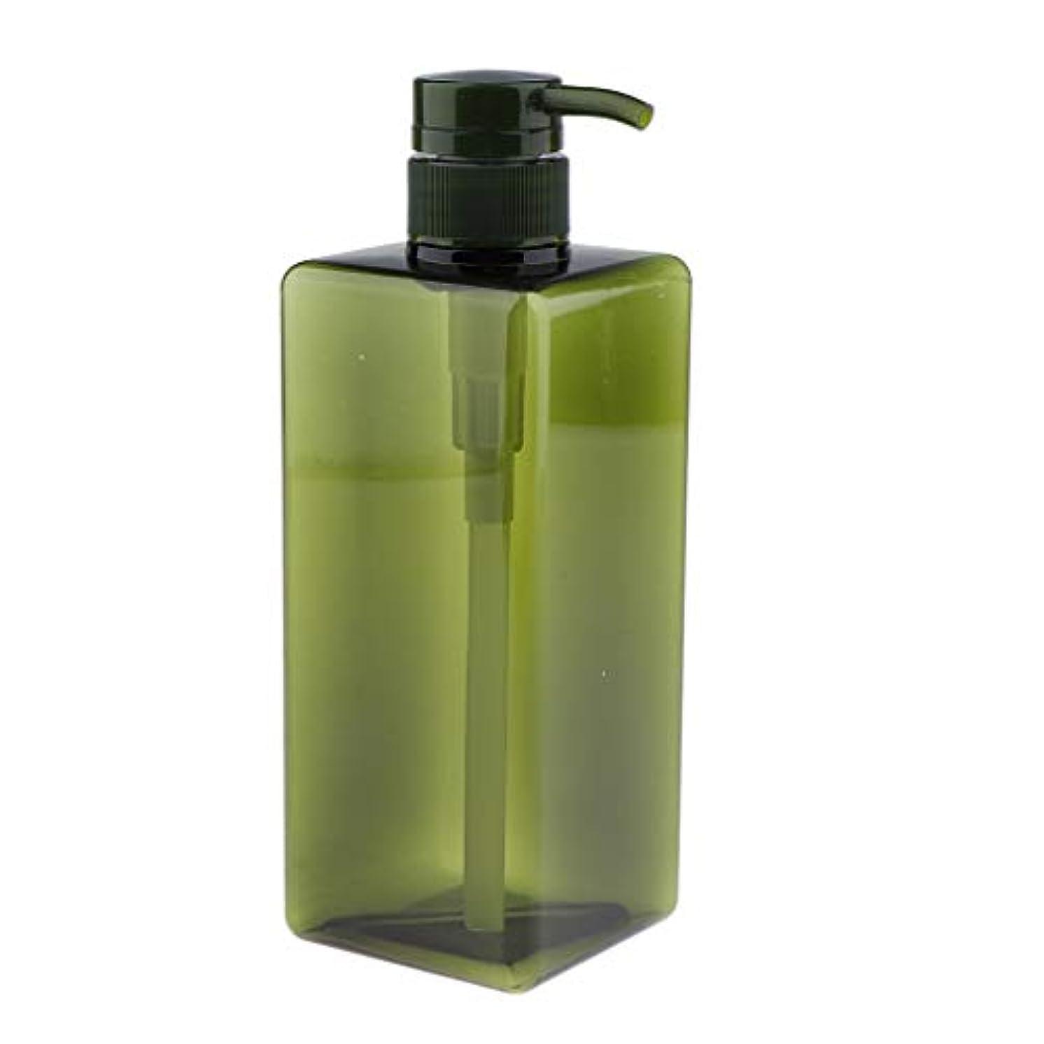 切断する何影響を受けやすいですSDENSHI 22オンス詰め替えボディウォッシュコンテナ空のスクエア650ミリリットル耐久性のあるプラスチックシャンプー&コンディショナーポンプボトル用浴室キッチン、サロン使用 - グリーン
