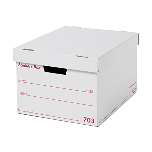 フェローズ バンカーズボックス 新703S A4サイズ 赤 3枚1セット 収納ボックス ふた付き 1006301