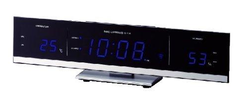 I.D.E.Ainternational 電波LED温湿時計 LCR031-BL