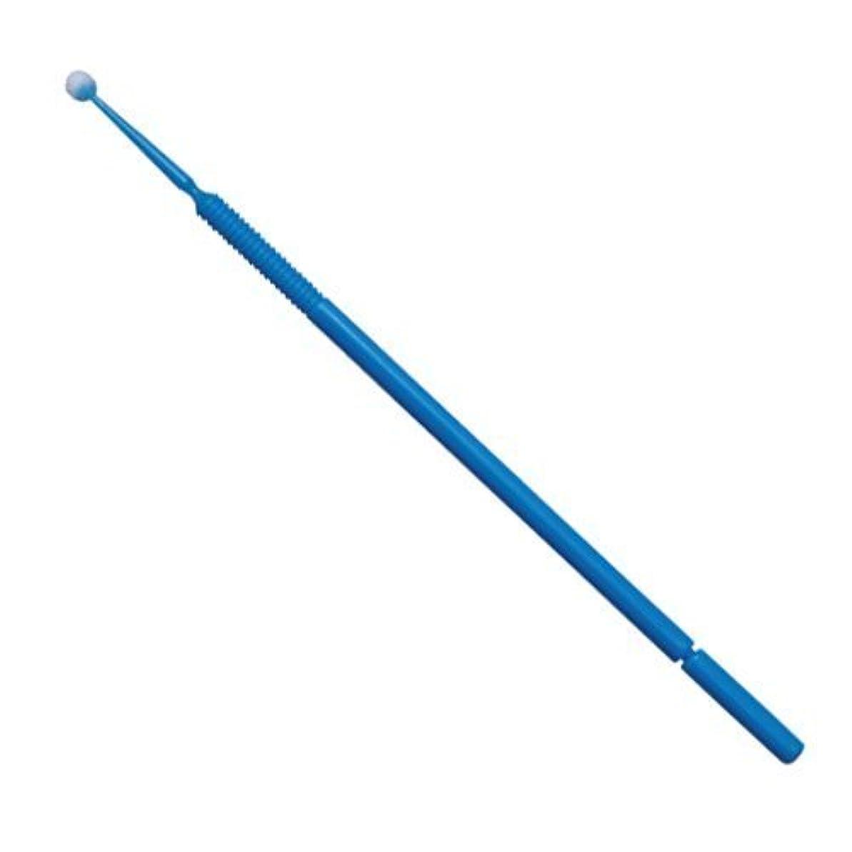 中級地中海士気マイクロアプリケーター(マイクロブラシ) レギュラー:φ2.0mm、ブルー/ 1箱100本