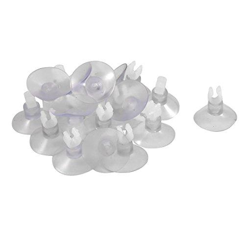 Yammy キスゴム 水槽の吸盤 水族館 ホルダークリップ クリア ソフトプラスチック 20個