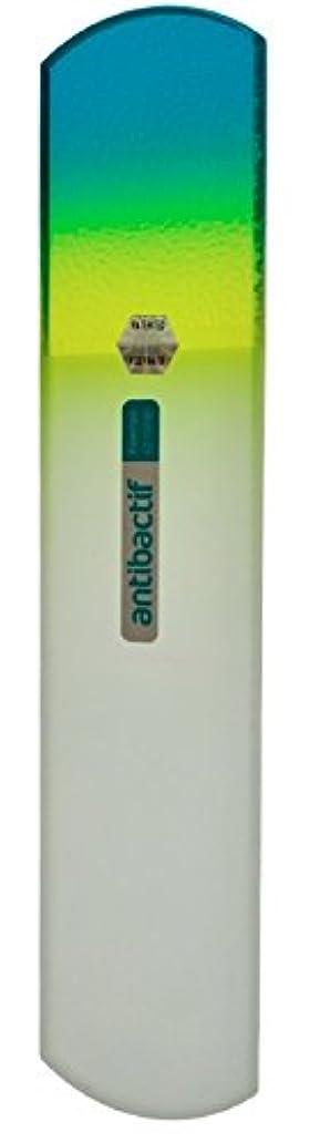 接ぎ木ギネス上にBLAZEK(ブラジェク) 抗菌ガラスやすり かかと用160mm(グリーングラデーション)