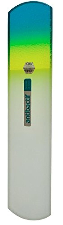 足首明るくする市場BLAZEK(ブラジェク) 抗菌ガラスやすり かかと用160mm(グリーングラデーション)