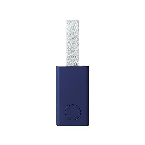 Qrio Smart Tag(キュリオスマートタグ) ネイビー 探し物発見機 忘れ物防止 スマホも探せる キーファインダー スマホカメラのシャッター機能付き Q-ST1