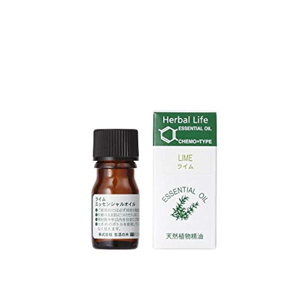質素な高める鈍い生活の木 エッセンシャルオイル ライム(3ml)