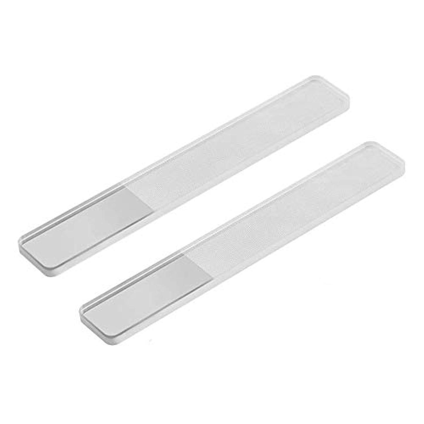 ポットロール知覚する2セット爪やすりピカピカ ネイルケア ネイルシャイナー ガラス 爪磨き 携帯便利 持続性甘皮処理収納