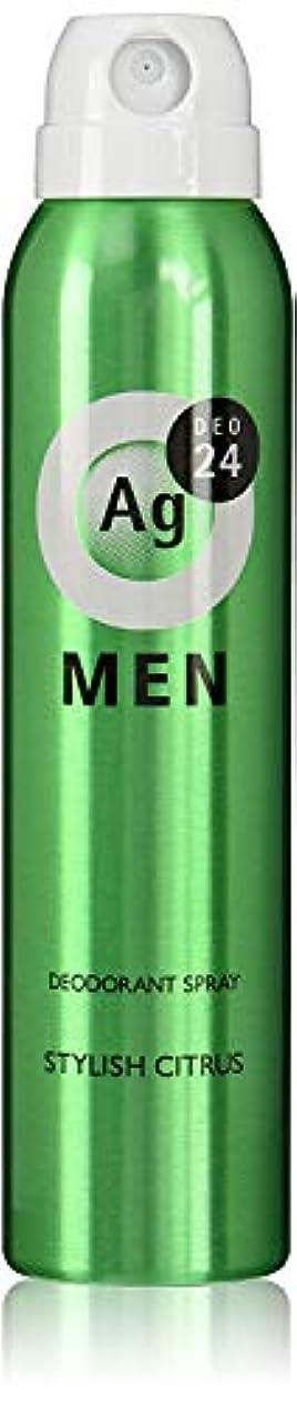 反響する社会主義インクエージーデオ24 メンズ デオドラントスプレー スタイリッシュシトラスの香り 100g (医薬部外品) × 3点