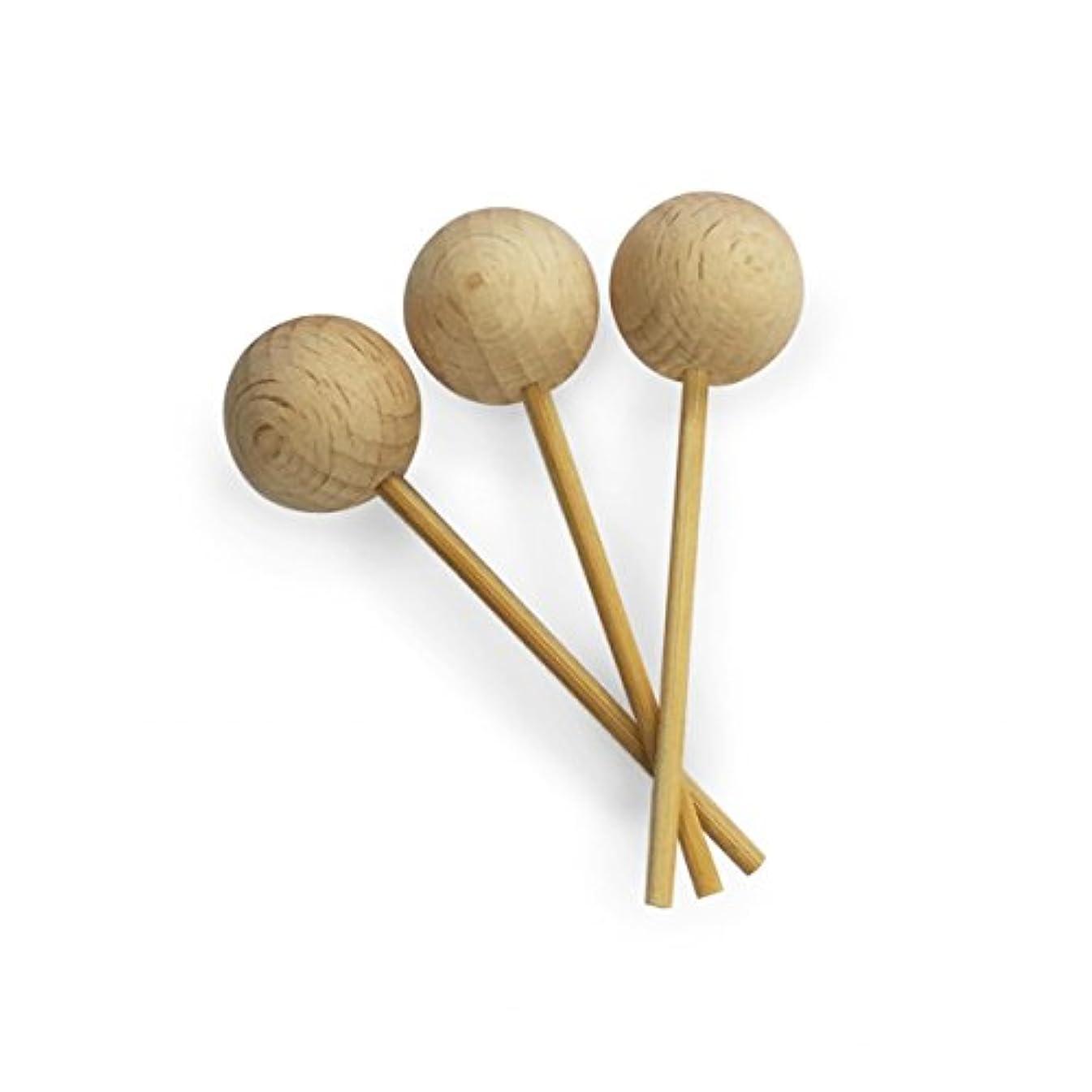 考えるリファイン夫カリス成城 アロマ芳香器 木のお家 交換用木製スティック3本入