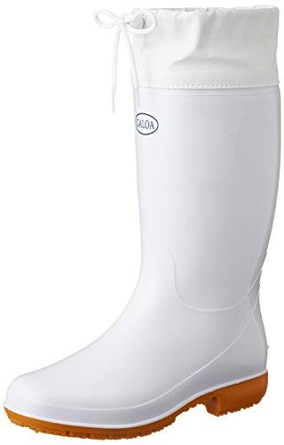 福山ゴム 厨房作業用カバー付耐油長靴 ガロア#6 ホワイト 25.0cm