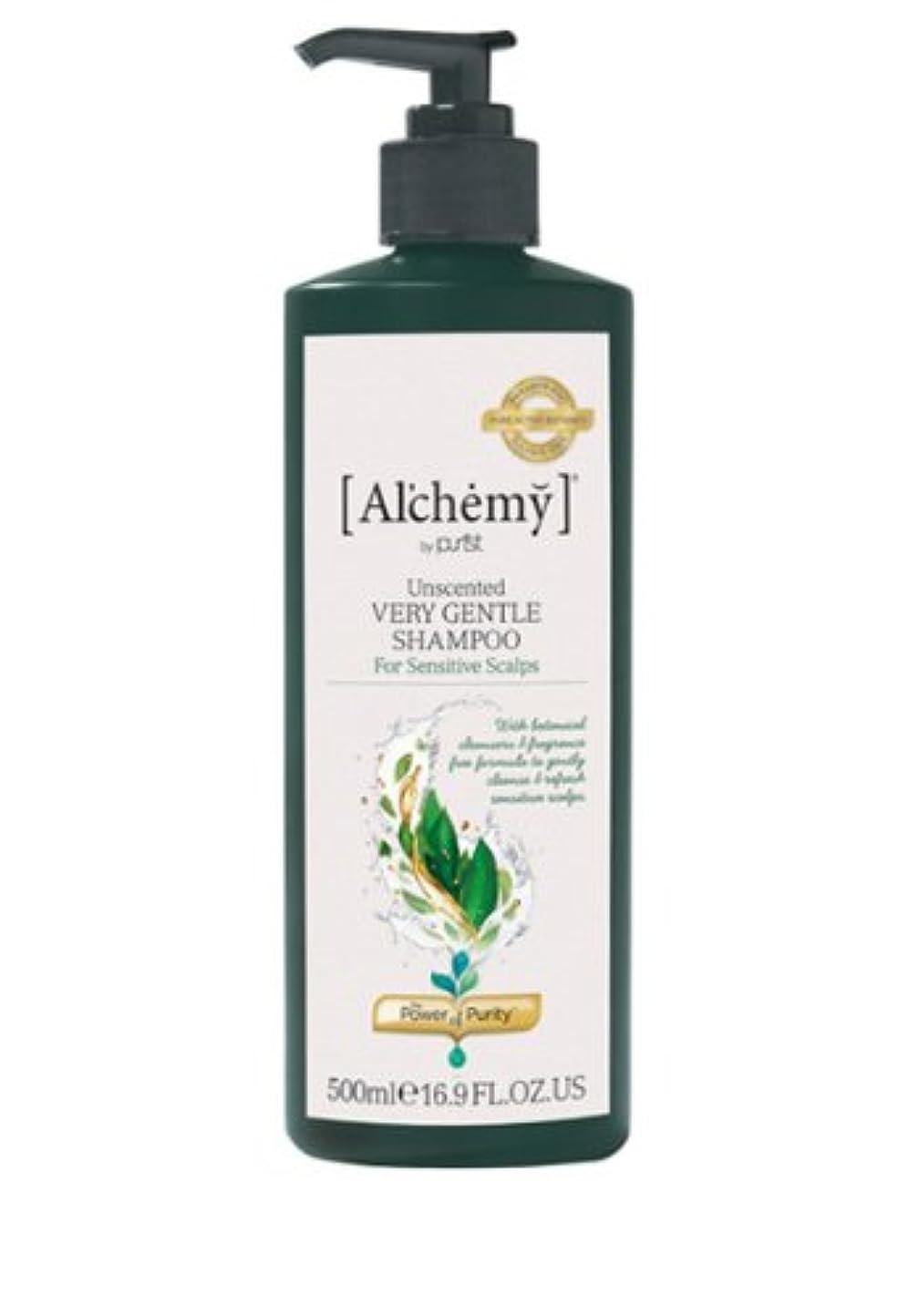 ウサギ空中プログラム【Al'chemy(alchemy)】アルケミー ベリージェントルシャンプー(Unscented Very Gentle Shampoo)(敏感肌用)500ml