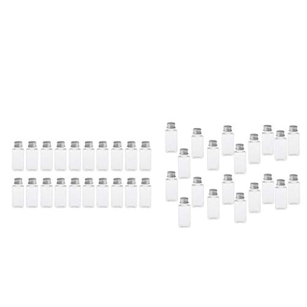 クロス絵マイルドT TOOYFUL 60個入り 空ボトル メイクアップボトル ローションボトル 化粧ボトル 旅行用品 全4選択 - クリア+銀(約40個)