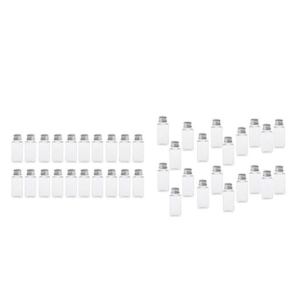 家事神秘的な合理的T TOOYFUL 60個入り 空ボトル メイクアップボトル ローションボトル 化粧ボトル 旅行用品 全4選択 - クリア+銀(約40個)