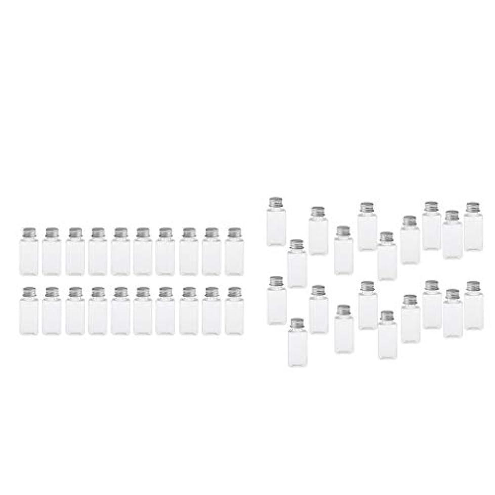 十分にヒギンズエジプト人T TOOYFUL 60個入り 空ボトル メイクアップボトル ローションボトル 化粧ボトル 旅行用品 全4選択 - クリア+銀(約40個)