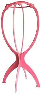 専用スタンド 赤 耐熱 フルウィッグ ウィッグ かつらの必要品 ピンク ウィッグスタンド